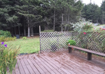 Back Deck & Yard