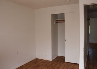 1st bedroom closet open
